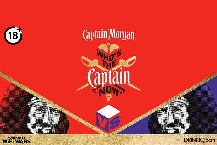 Captain Morgan: event will include a series of arcade-style games and quizzes