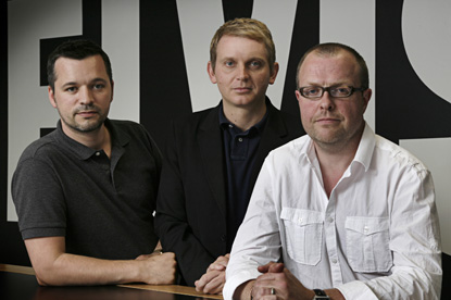 Clapp, Treacy and Eatson (l-r)…Elvis' latest creative team