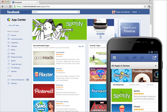 Facebook: launches App Centre