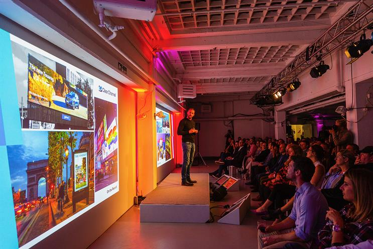 Clear Channel: Cochrane on stage at upfront event