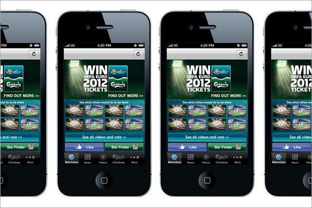 Carlsberg: launches Euro 2012 mobile app