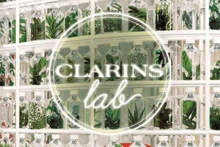 Clarins: large plant wall will provide fragrance in pop-up