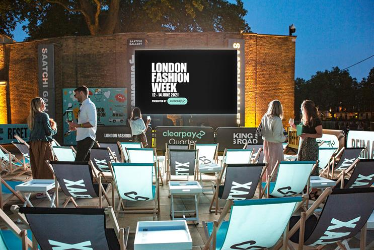 Clearpay: visitors can watch fashion shows from deckchairs
