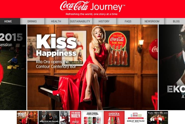 Coca-Cola has re-launched its website to be more editorial and less corporate