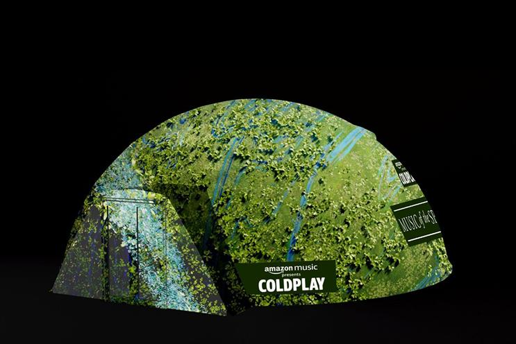 Amazon Music: the experience will be set to a Coldplay song