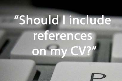 Should I include references on my event CV?