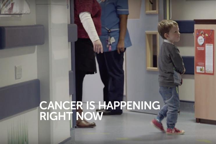 Cancer Research UK: a young boy before his chemotherapy