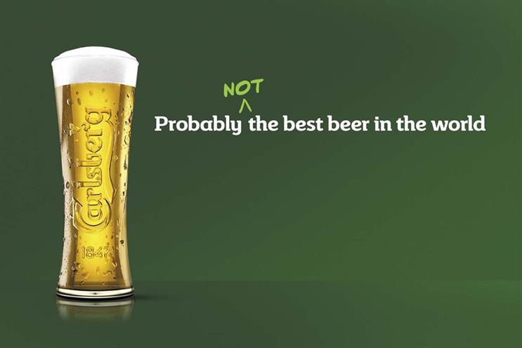 Carlsberg: relaunched its beer with a new campaign
