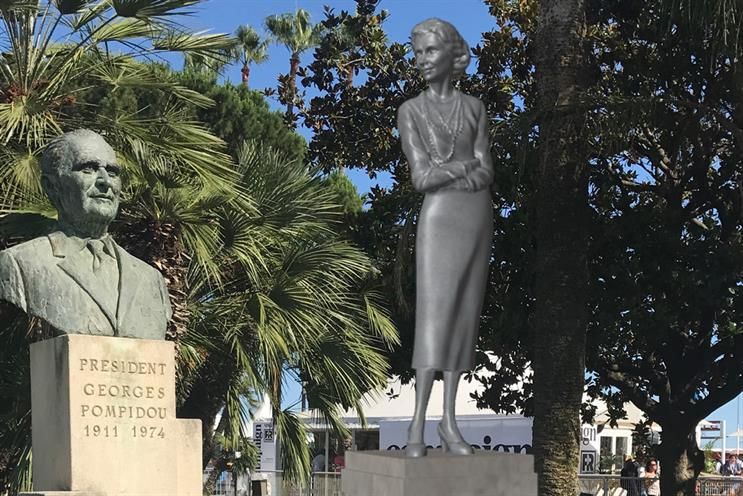 Look for Coco Chanel's virtual statue outside the Palais des Festivals