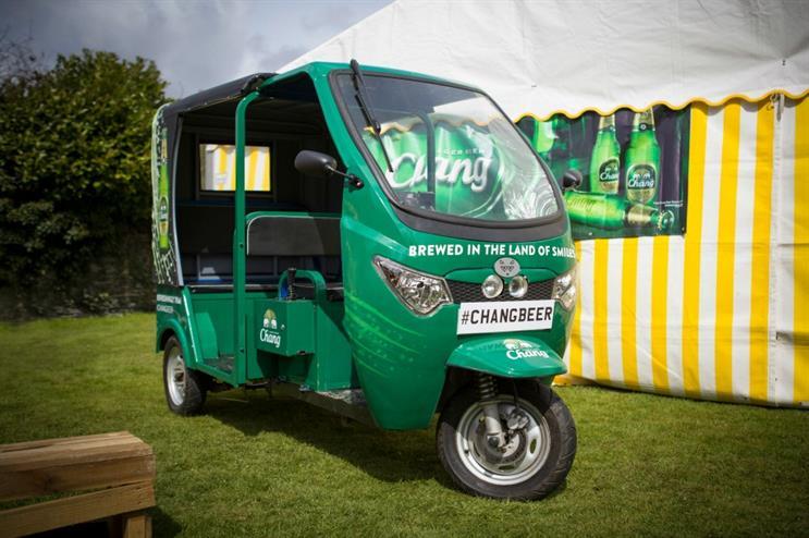 Chang Beer: Using tuk tuks as part of its activation