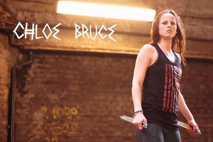 342931fac771 Chloe Bruce  kickboxer and stuntwoman has close to half a million Facebook  fans has worked