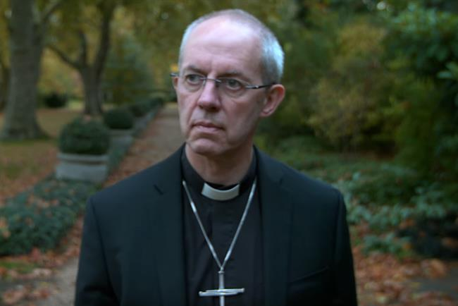 Justin Welby: the archbishop of Canterbury appears in banned cinema ad