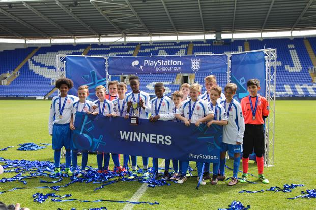 PlayStation: the winning team from this year's Schools' Cup tournament