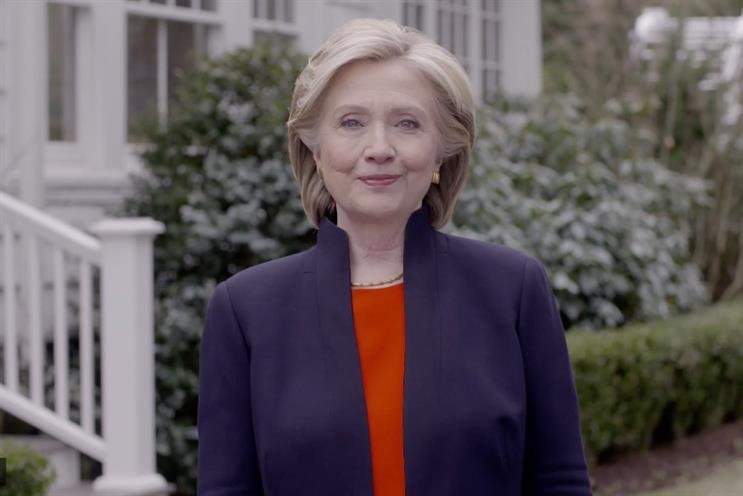 Hillary Clinton: takes to YouTube and Twitter to promote her Democratic candidacy
