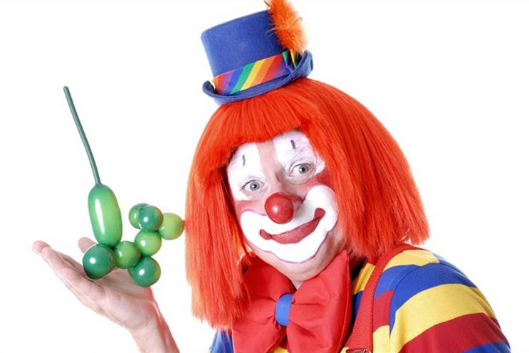 Clown: made balloon poodle in meeting