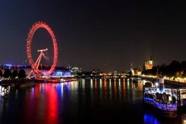 The London Eye: basking in the red light of new sponsor Coca-Cola