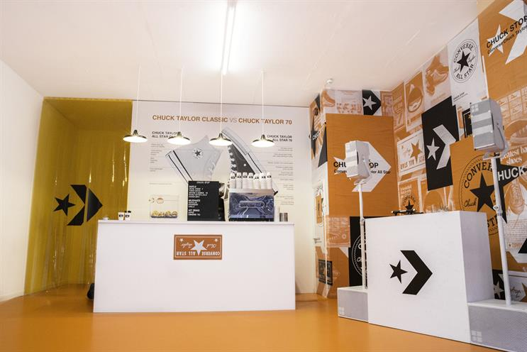 Converse creates Chuck Stop coffee shop for sneaker drop