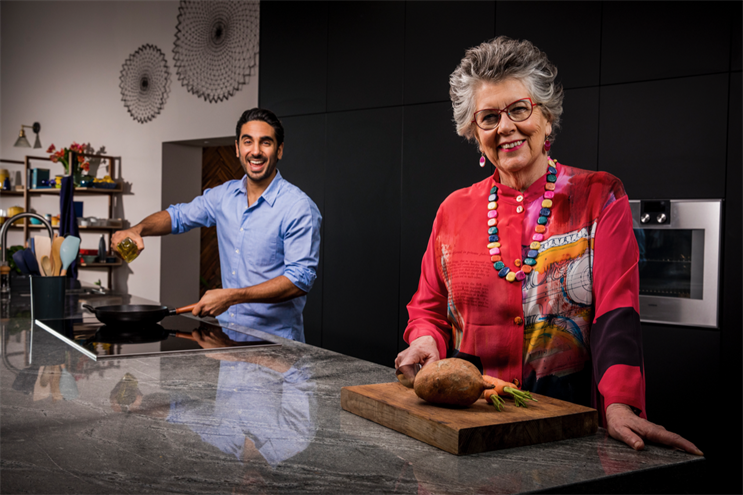 Prue Leith (right) and Dr Rupy Aujla will help families reduce food waste