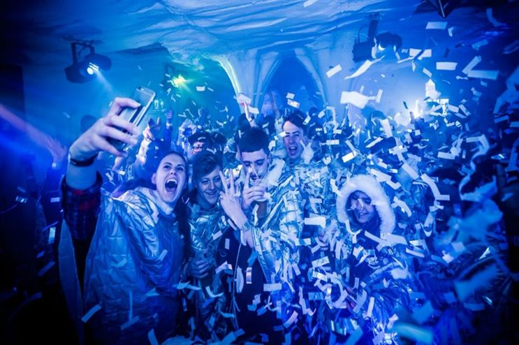 Coors Light: hosting ice cave rave in Sheffield