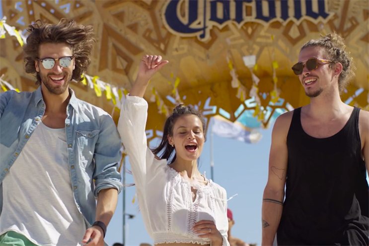 Corona brings beach to London as part of 4,000-strong global event programme