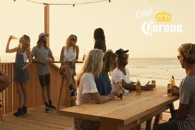 Casa Corona: surfing-themed pop-up