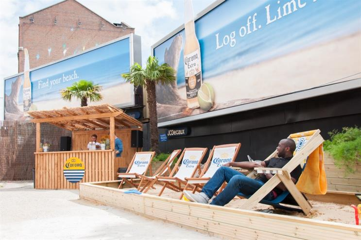 The beach will remain in situ until Sunday (16 August)