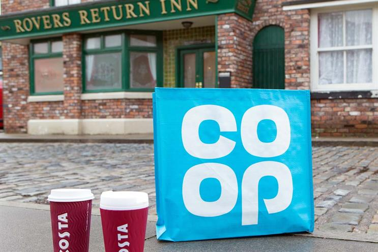 Co-op and Costa come to Coronation Street in ITV's biggest product placement deal