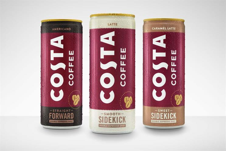 Costa: cans launch this month