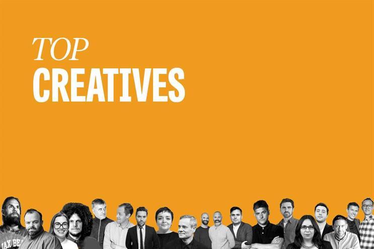Top creatives: Kolbusz, Brim, A Balarin, H Balarin, Tait, Davidson, Leonard, Maguire, Grieve, Doubal, Thomson, Bailes, Brooke-Taylor, McClure, Sobhani, Simon, Vega, Tudor and Elliott