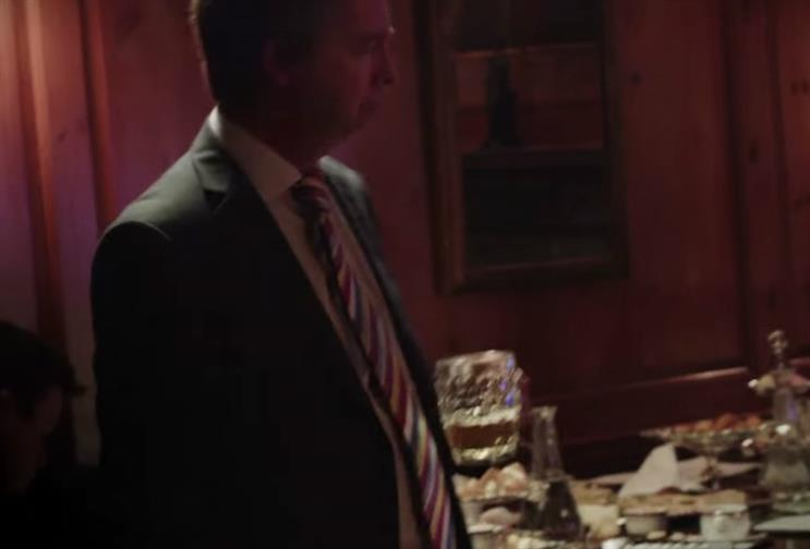 Nigel Farage and Boris Johnson party in spoof EE film