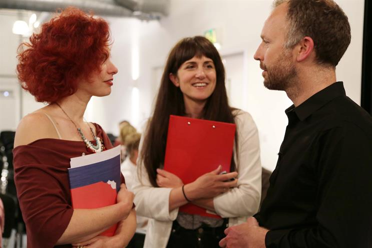 Comms Lab: (left to right) Dr Orit Gal, Ella Saltmarshe and Jonathan Wise