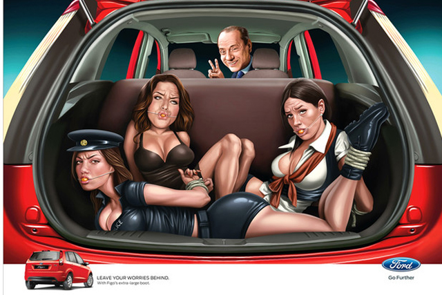 Ford: Silvio Berlusconi ads caused controversy