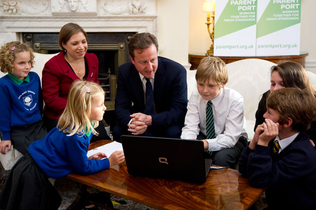 Cameron: concerned by the 'sexualisation' of childhood