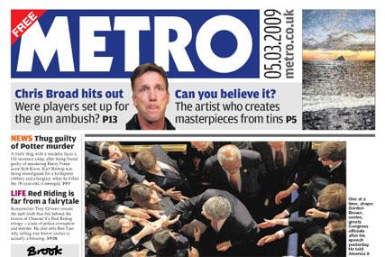 Metro boss confident despite double-digit fall in ad revenue