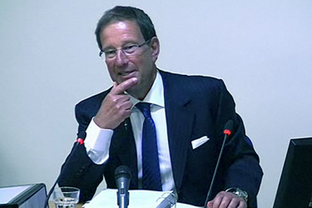 Richard Desmond: gives evidence at the Leveson enquiry