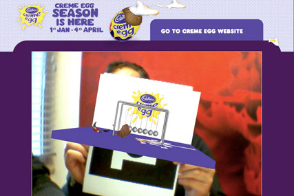 Egg-mented reality: the Creme Egg game from Cadbury
