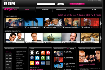 BBC iPlayer... part of Project Canvas