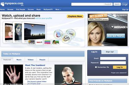 MySpace... reshuffle