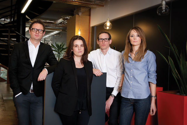 A&E/DDB strategist (l-r)...Golding, Moody, Boyd, Bentley