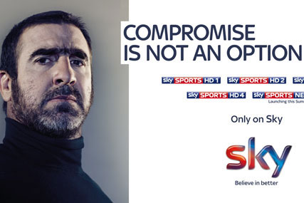 Eric Cantona: promotes Sky Sports