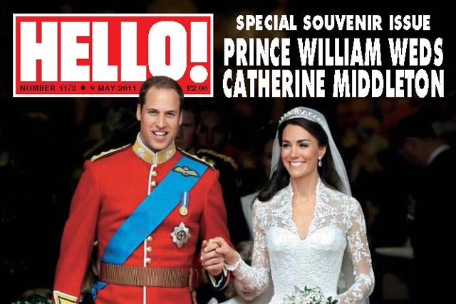 Hello!: claims its Royal Wedding coverage increased sales