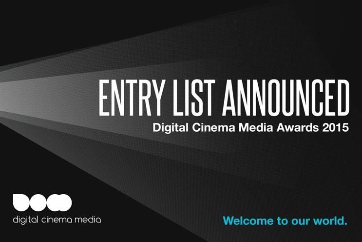 Digital Cinema Media Awards entry list announced