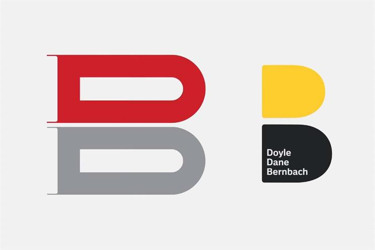 DDB: original logo (left) and new identity