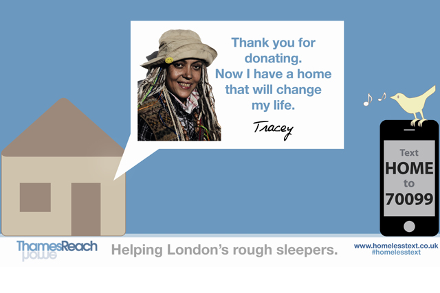 ThamesReach ad: supported by Clear Channel