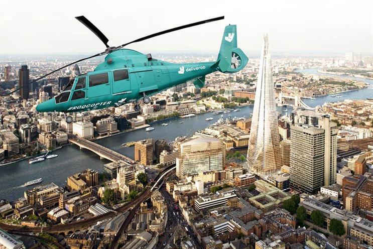 Deliveroo: flying past London landmarks
