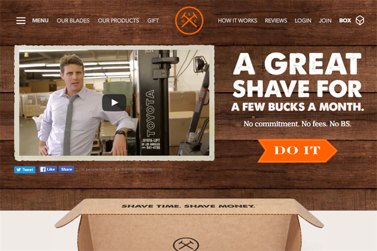 Dollar Shave Club sells subscriptions for $3, $6 or $9 a month