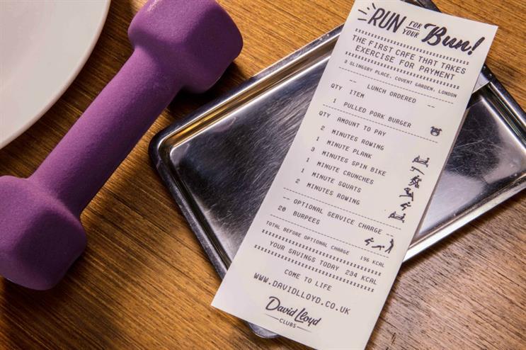 David Lloyd Leisure Group: exercise-themed cafe