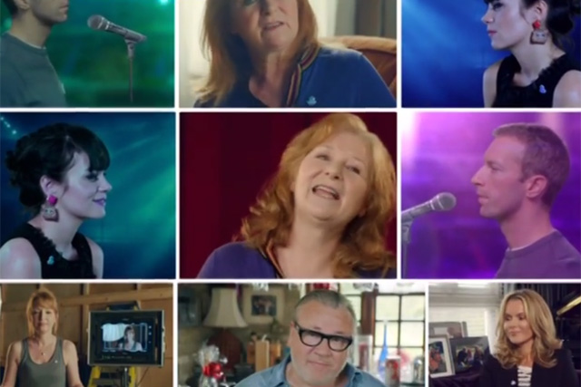 Lily Allen and Chris Martin: among the stars in the government's dementia ad campaign