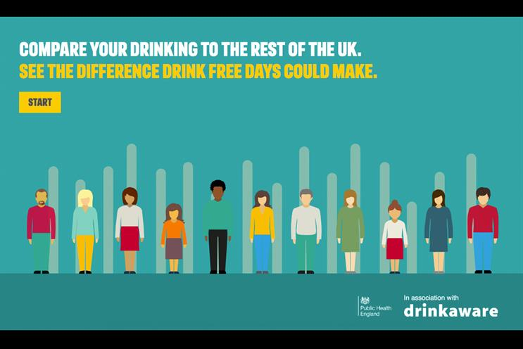 Drinkaware: encouraging people to have alcohol-free days