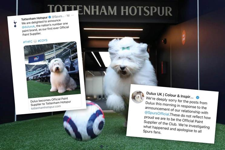 Dulux and Spurs: how it started ... how it 'ended'